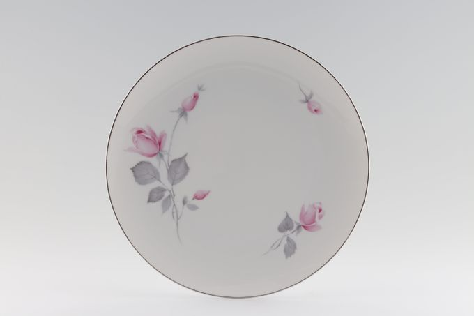 Thomas White with Pink Roses and Silver Line Breakfast / Salad / Luncheon Plate 9 3/8""