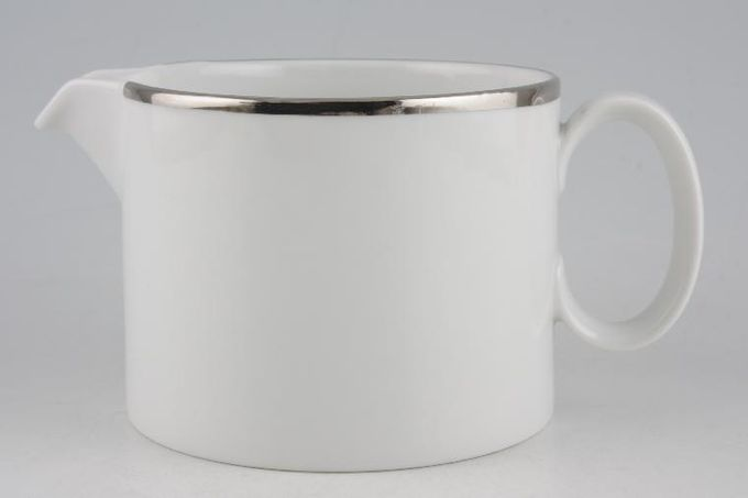 Thomas Medaillon Platinum Band - White with Thick Silver Line Gravy Jug