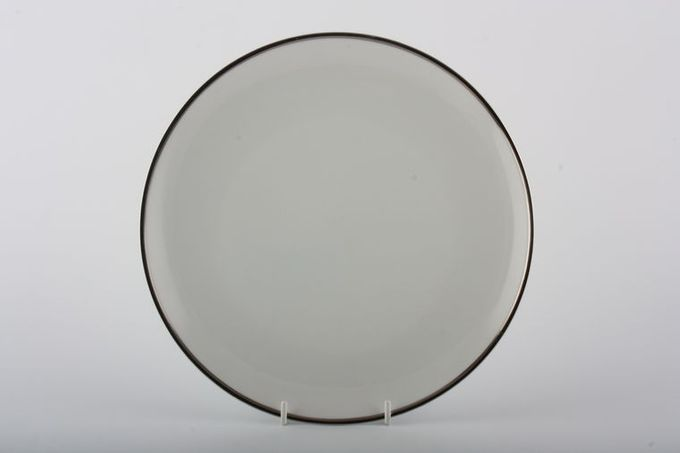 Thomas Medaillon Platinum Band - White with Thick Silver Line Breakfast / Salad / Luncheon Plate 9 3/8""