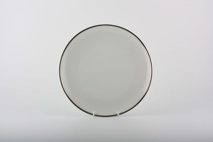 Thomas Medaillon Platinum Band - White with Thick Silver Line Tea / Side / Bread & Butter Plate 6 7/8""
