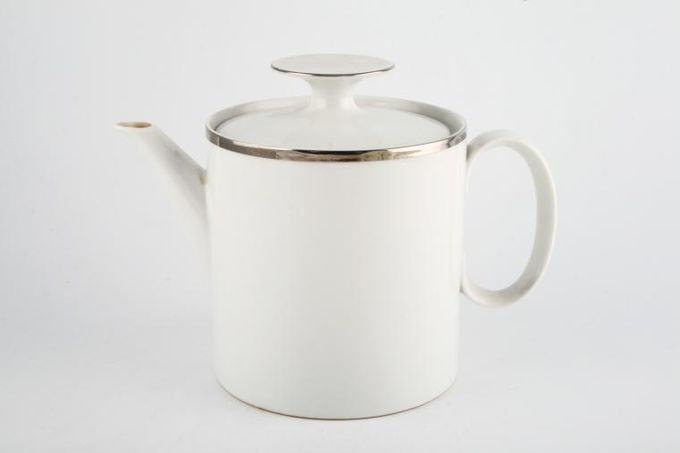 Thomas Medaillon Platinum Band - White with Thick Silver Line Teapot 1 1/2pt
