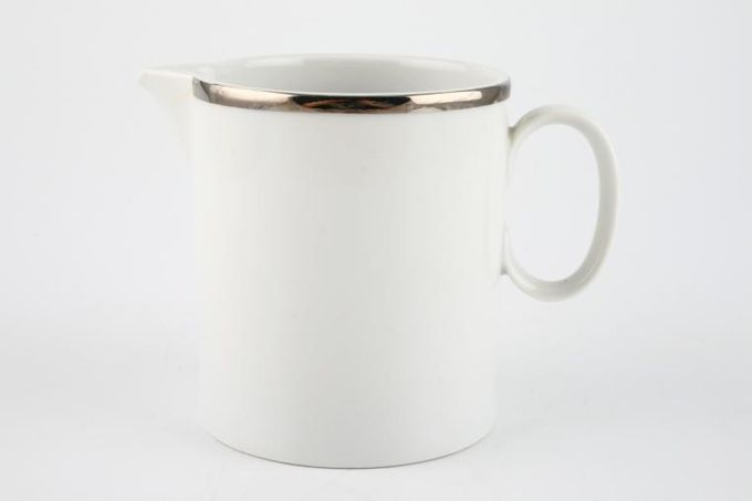 Thomas Medaillon Platinum Band - White with Thick Silver Line Milk Jug 1/2pt