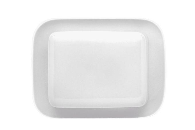 Thomas Medaillon White Butter Dish + Lid