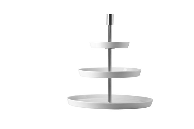 Thomas Loft White 3 Tier Cake Stand Round, Plates 27cm,19cm and 12cm