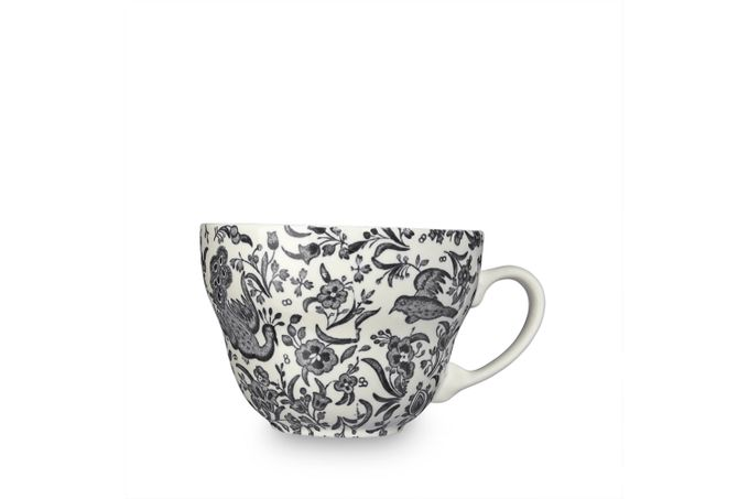 Burleigh Black Regal Peacock Breakfast Cup