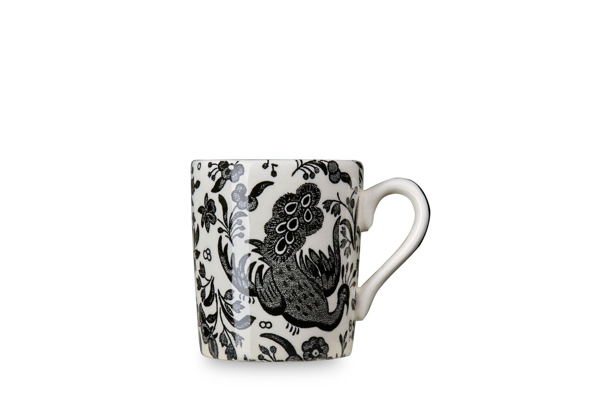 Burleigh Black Regal Peacock Espresso Cup thumb 1