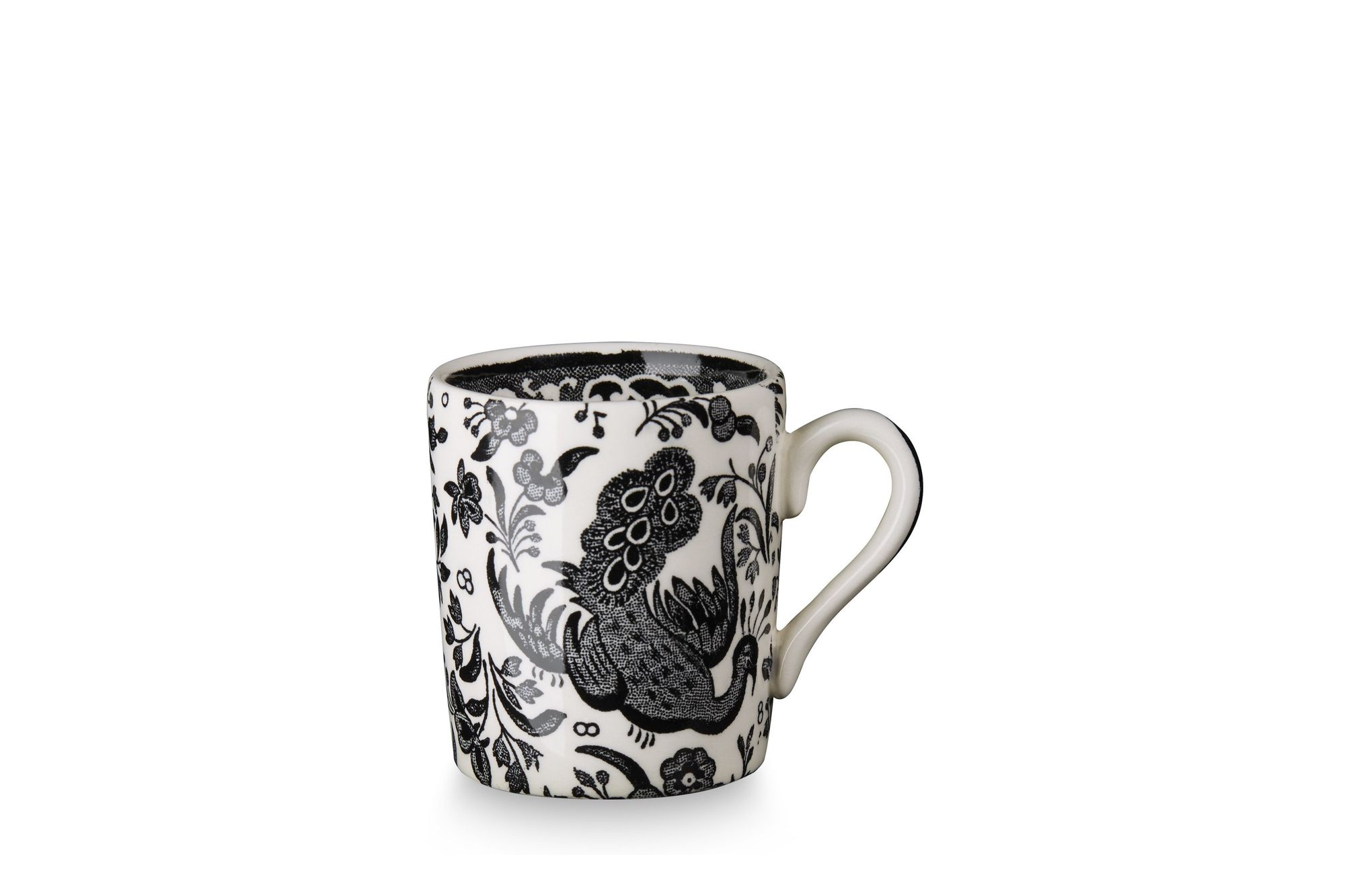 Burleigh Black Regal Peacock Espresso Cup thumb 2