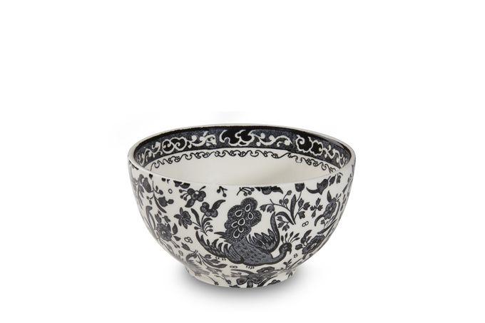 Burleigh Black Regal Peacock Bowl 12cm