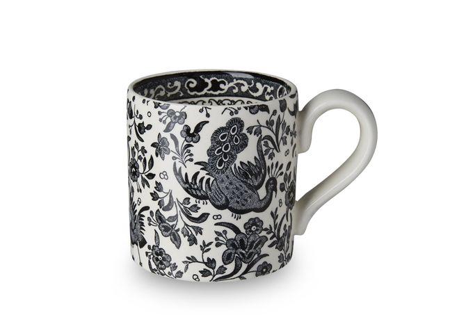 Burleigh Black Regal Peacock Mug