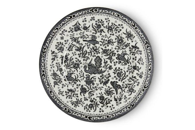 Burleigh Black Regal Peacock Dinner Plate 25cm