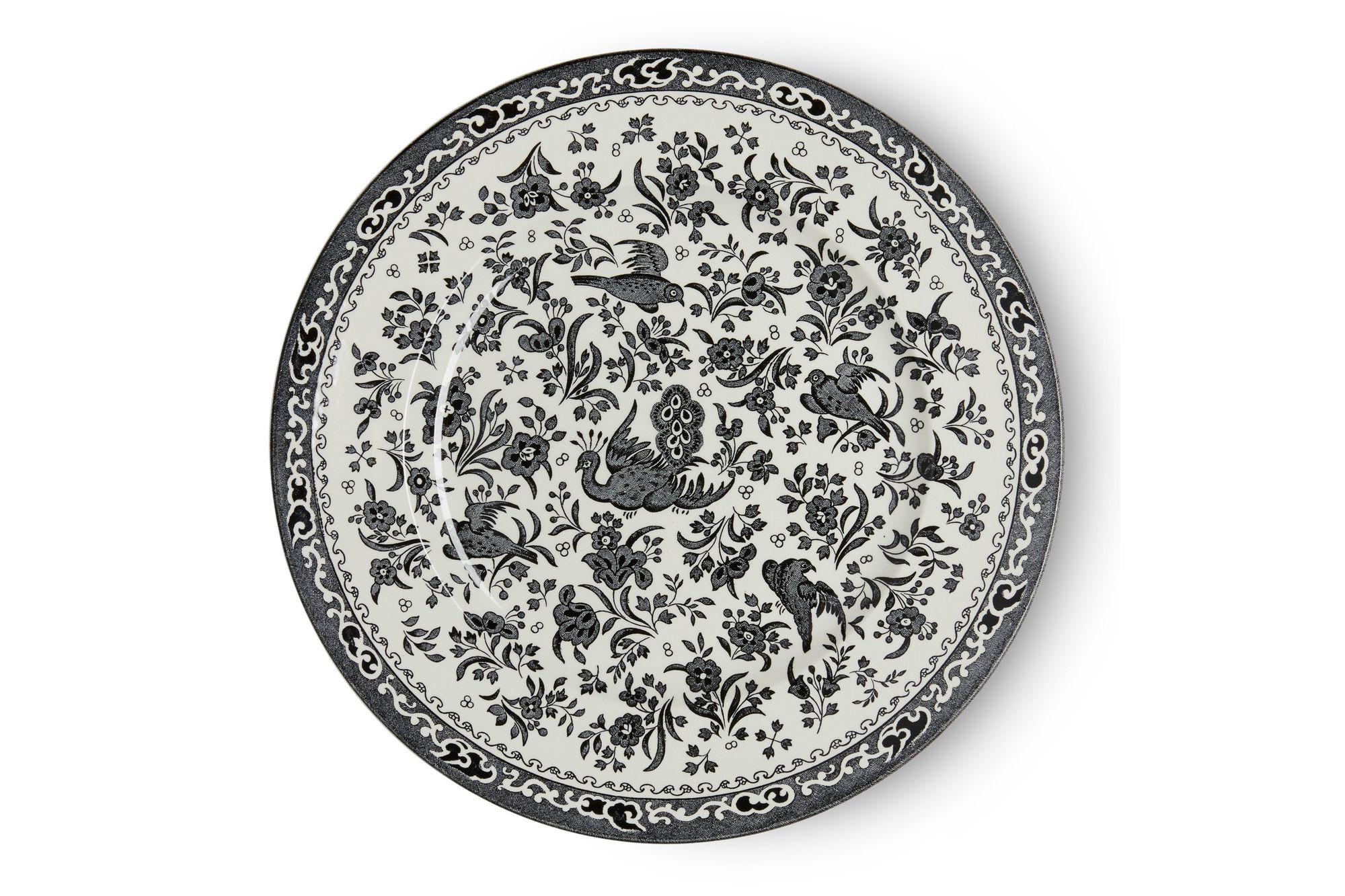 Burleigh Black Regal Peacock Dinner Plate 25cm thumb 2
