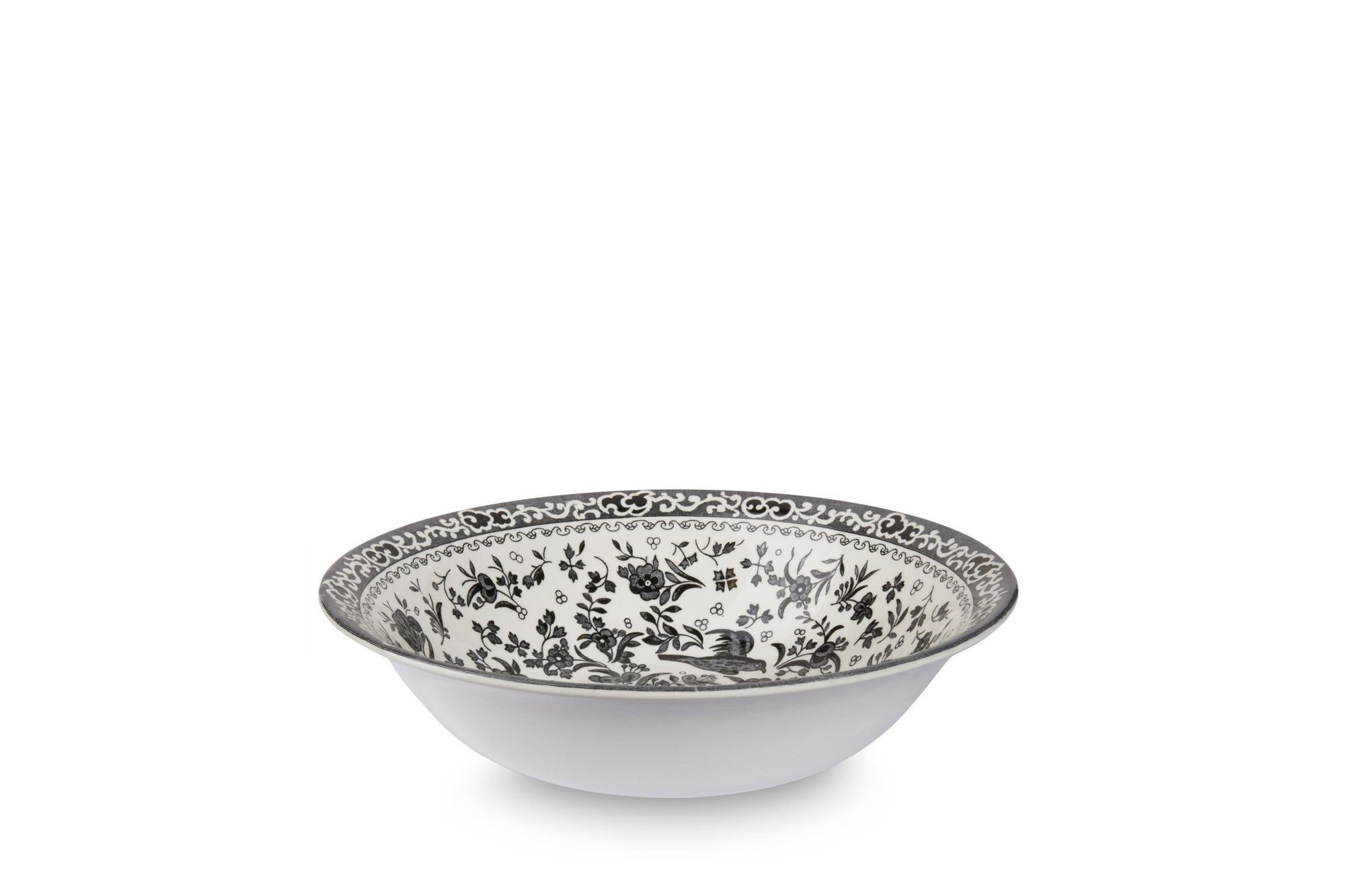 Burleigh Black Regal Peacock Soup Bowl thumb 1