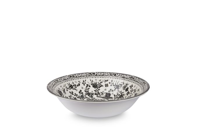 Burleigh Black Regal Peacock Soup Bowl