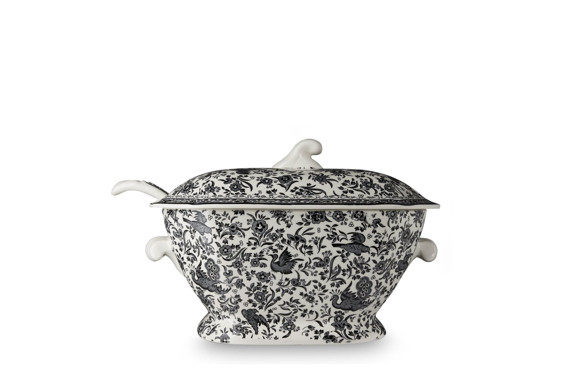 Burleigh Black Regal Peacock Soup Tureen + Lid thumb 1