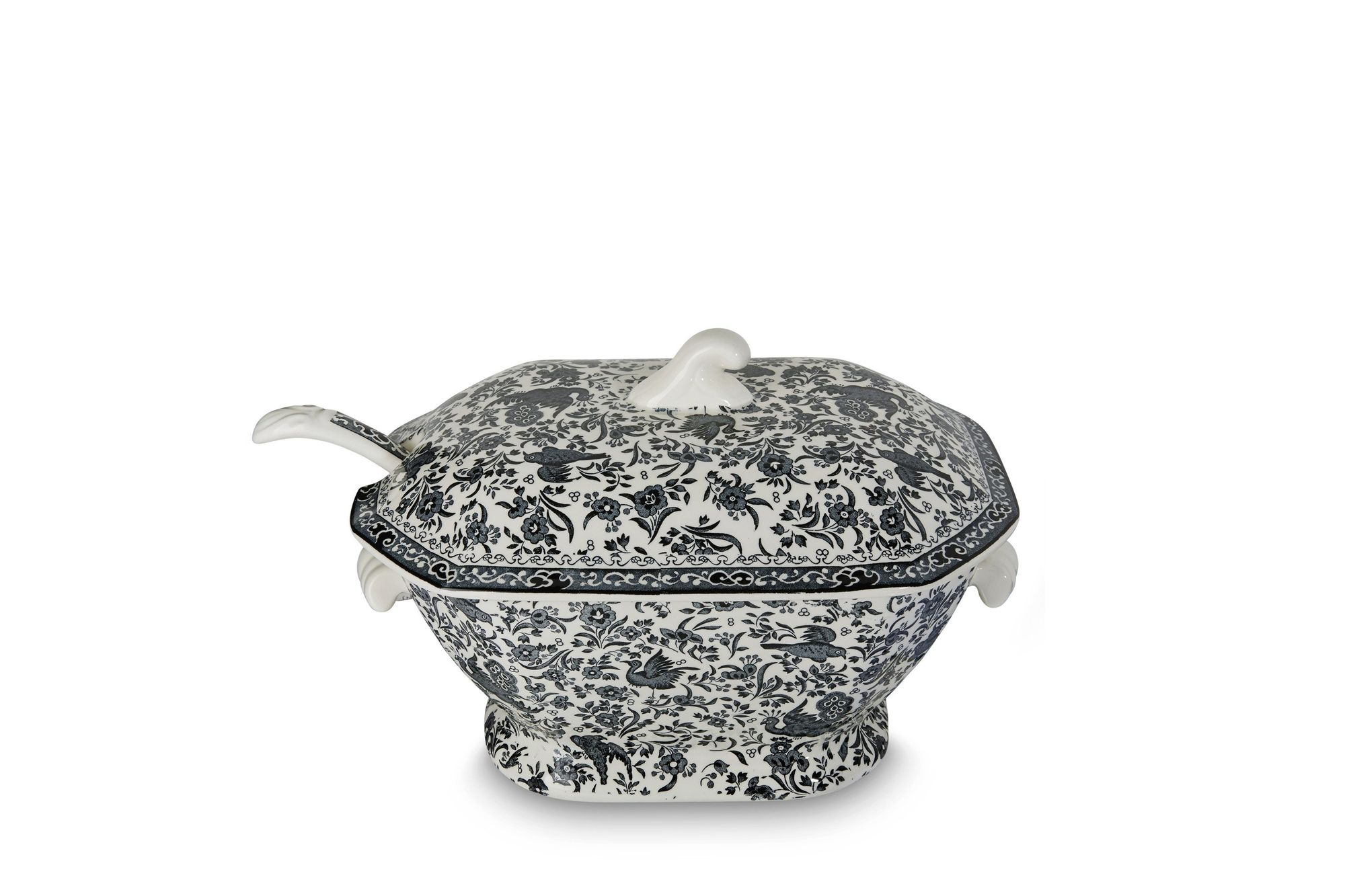 Burleigh Black Regal Peacock Soup Tureen + Lid thumb 2