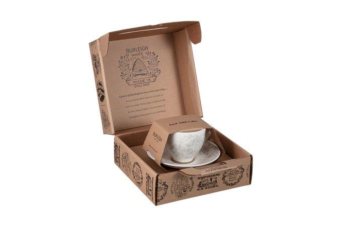 Burleigh Dove Grey Asiatic Pheasants Teacup Gift Set