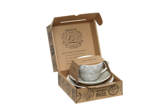 Burleigh Dove Grey Calico Breakfast Cup Gift Set