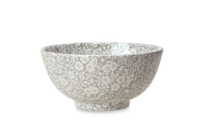 Burleigh Dove Grey Calico Sugar Bowl - Open 9.5cm