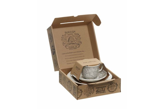 Burleigh Dove Grey Calico Teacup Gift Set
