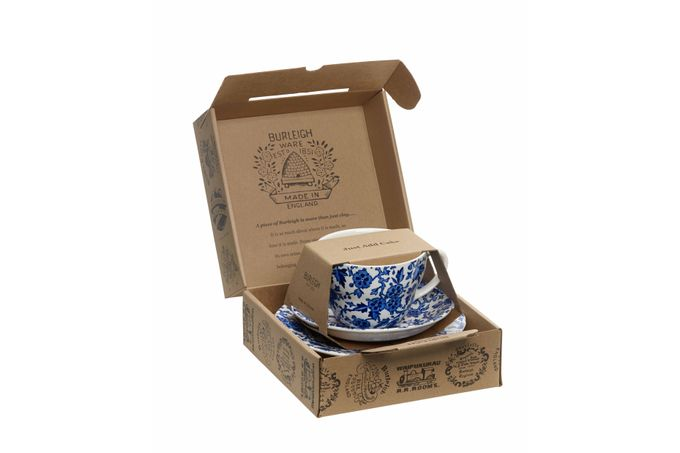 "Burleigh Blue Arden Breakfast Cup Gift Set Includes Breakfast Cup, Breakfast Saucer and 7"" Plate"