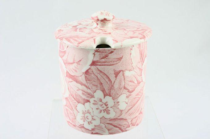 "Burleigh Victorian Chintz - Pink Jam Pot + Lid 3 1/4 x 3 1/4"""