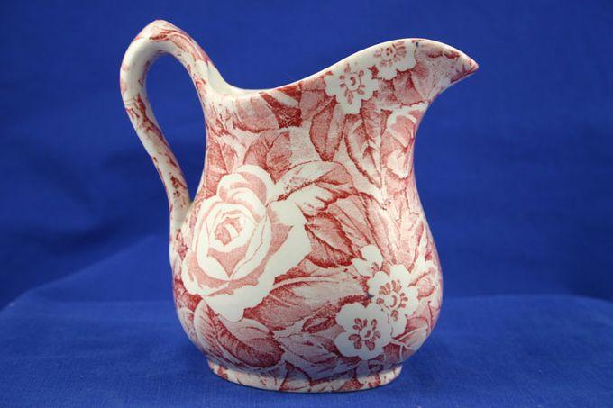 Burleigh Victorian Chintz - Pink Milk Jug 1/2pt