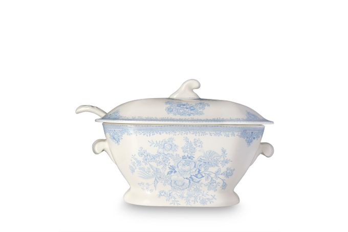 Burleigh Blue Asiatic Pheasants Soup Tureen + Lid Ladle Not Included