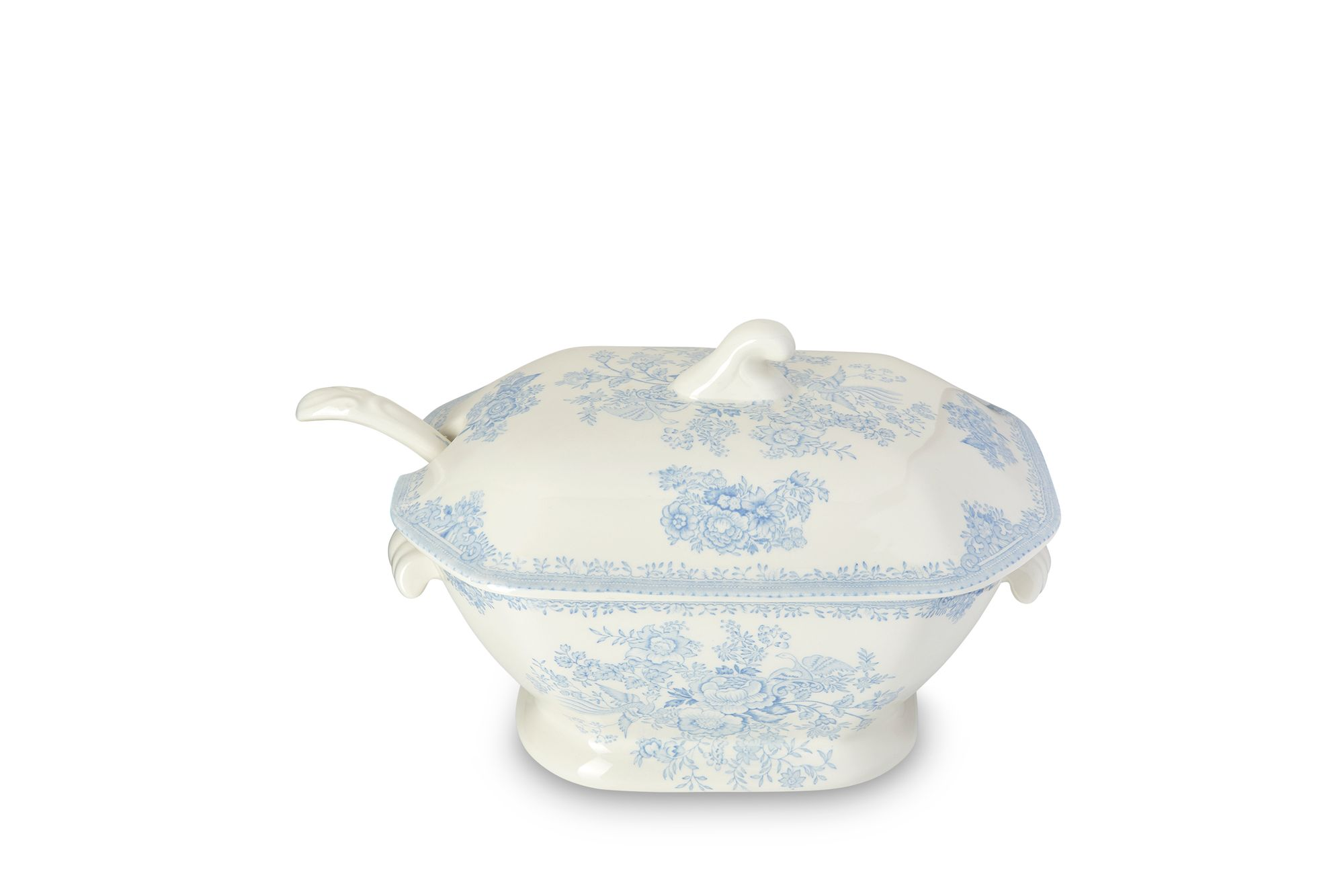 Burleigh Blue Asiatic Pheasants Soup Tureen + Lid Ladle Not Included thumb 2