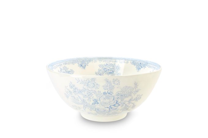 """Burleigh Blue Asiatic Pheasants Large Footed Bowl 11"""""""