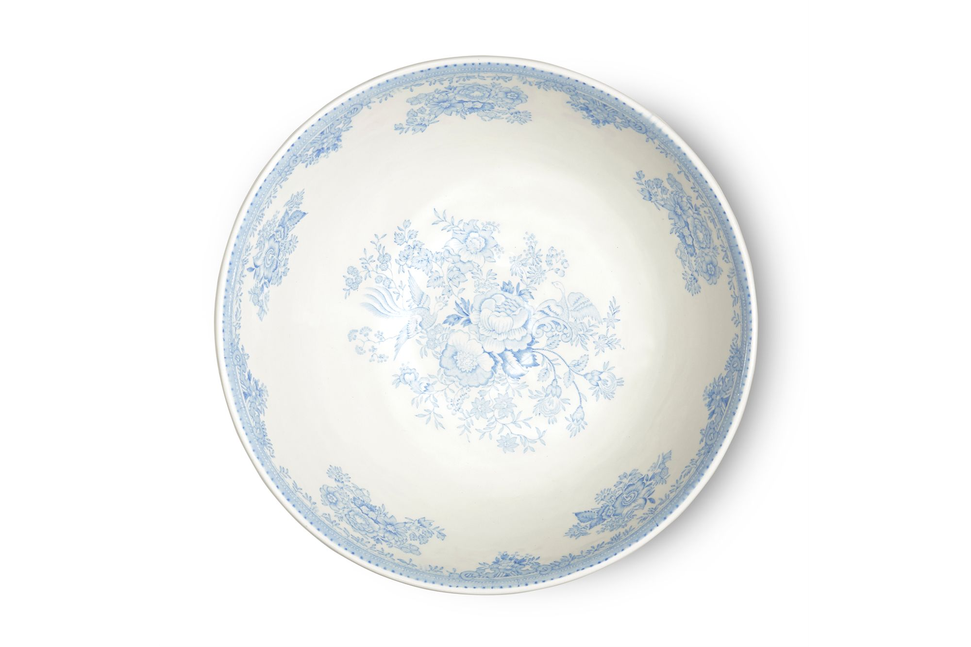 """Burleigh Blue Asiatic Pheasants Large Footed Bowl 11"""" thumb 2"""