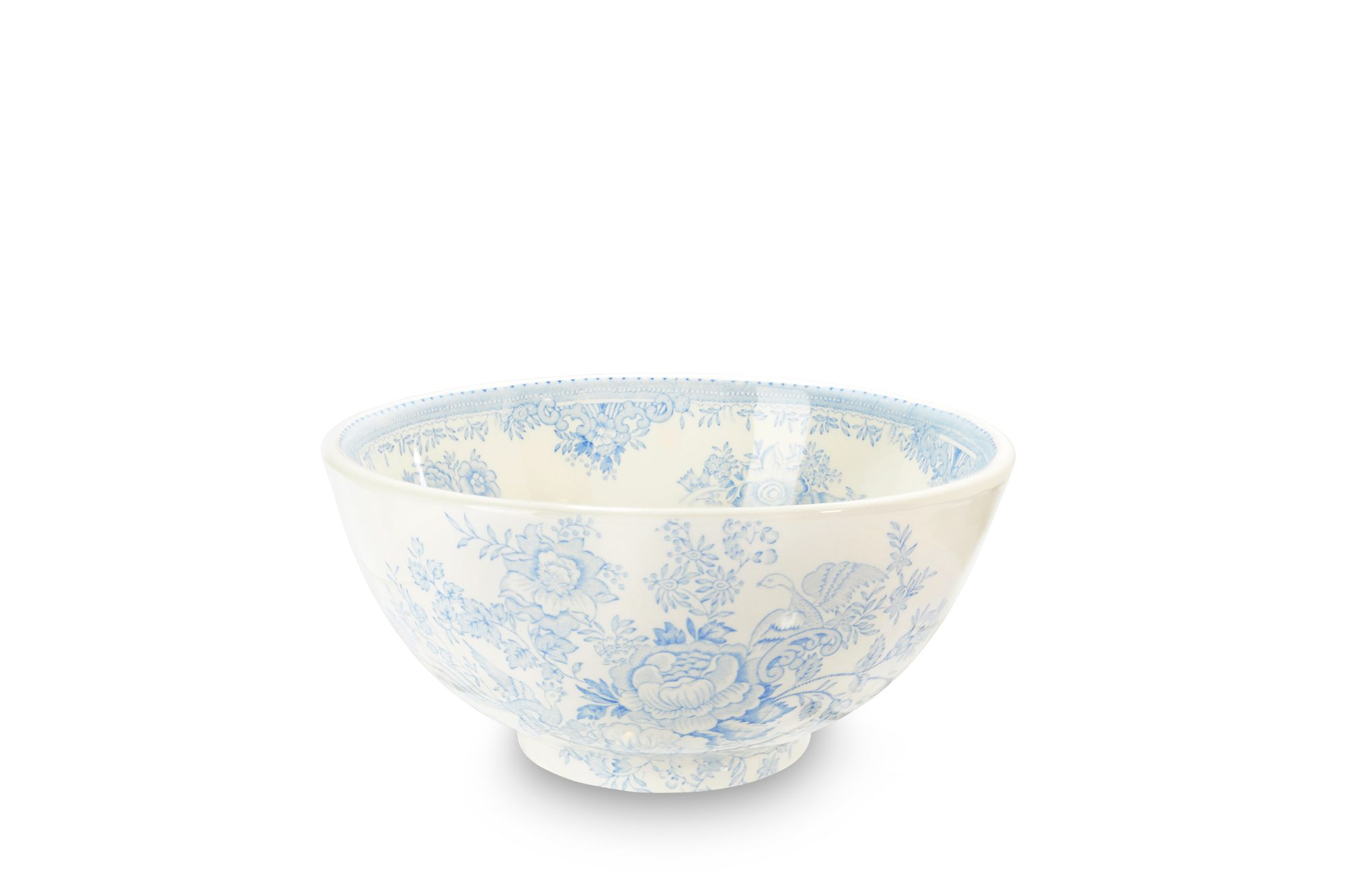 "Burleigh Blue Asiatic Pheasants Medium Footed Bowl 8"" thumb 1"