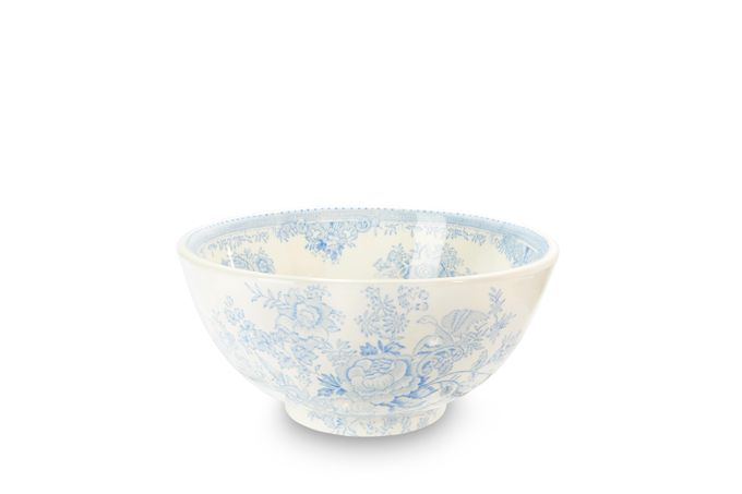 Burleigh Blue Asiatic Pheasants Medium Footed Bowl 8""