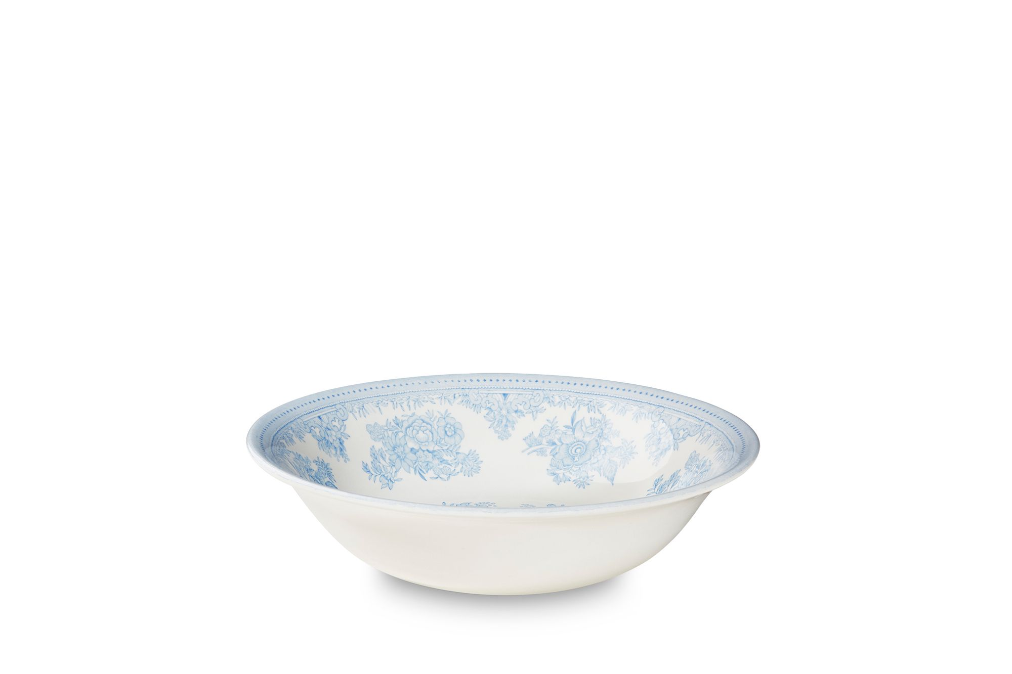 """Burleigh Blue Asiatic Pheasants Soup / Cereal Bowl 8"""" thumb 1"""