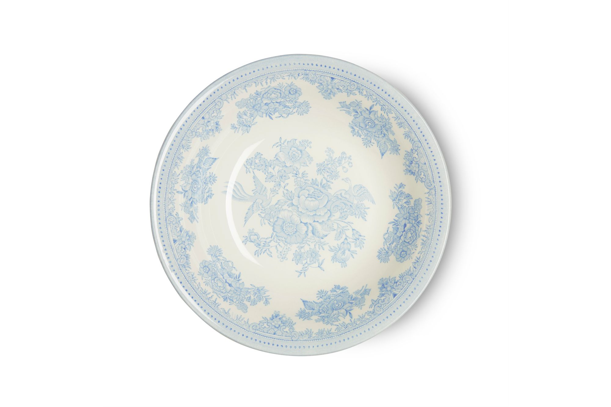 """Burleigh Blue Asiatic Pheasants Soup / Cereal Bowl 8"""" thumb 2"""