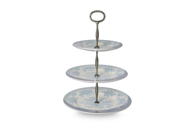 Burleigh Blue Asiatic Pheasants 3 Tier Cake Stand