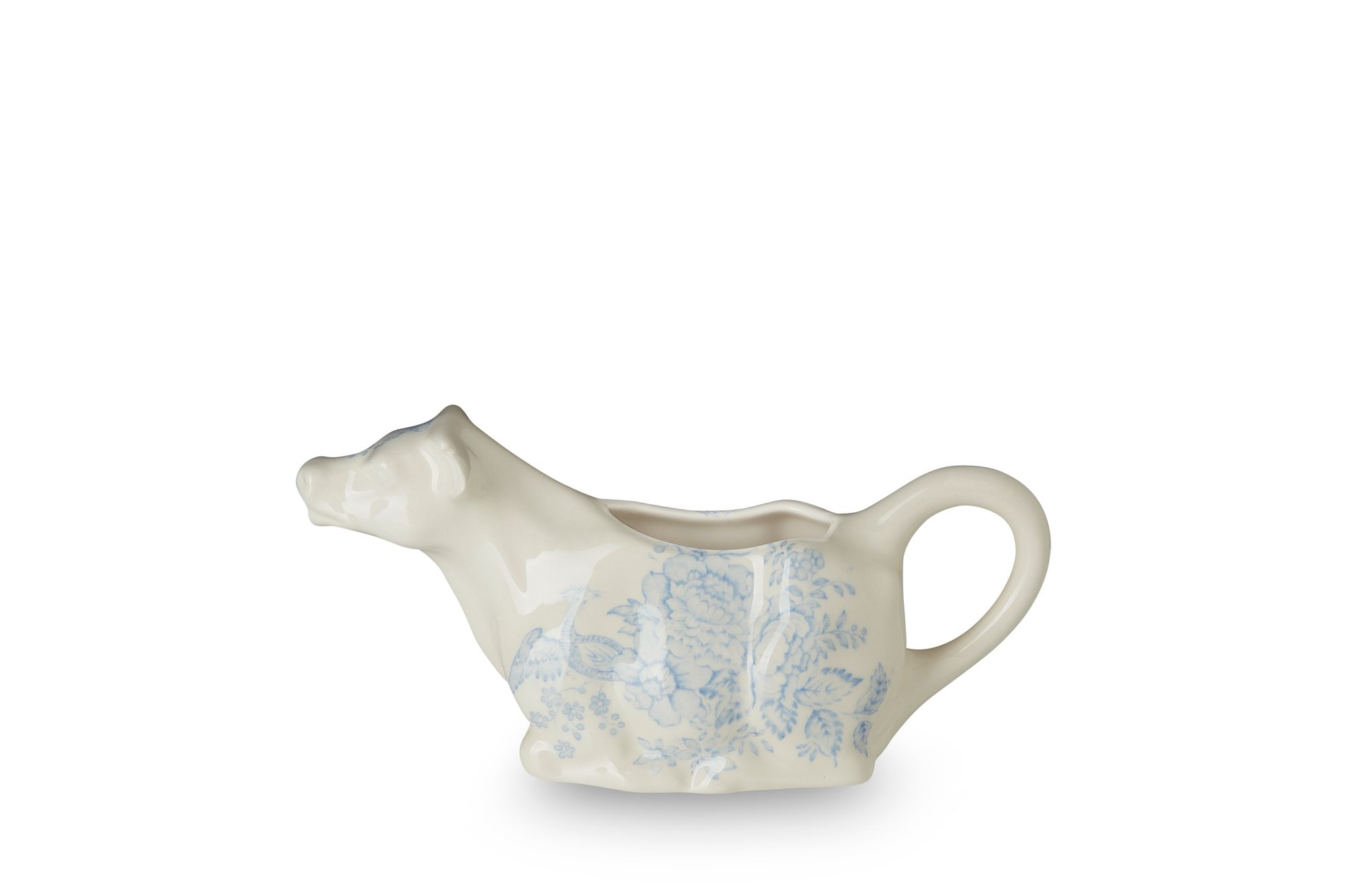Burleigh Blue Asiatic Pheasants Milk Jug Cow Creamer thumb 2