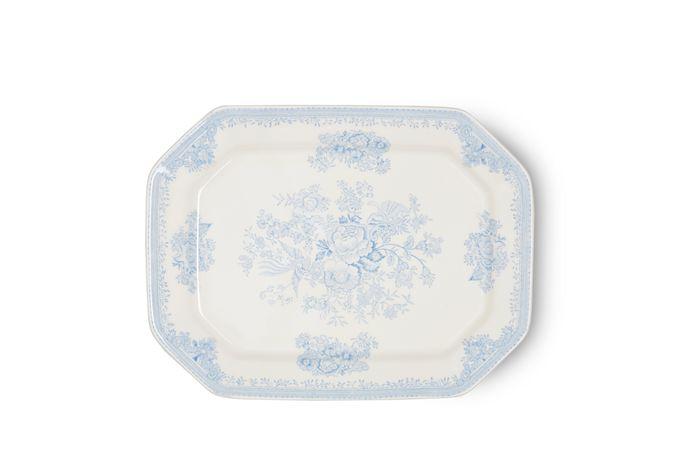 "Burleigh Blue Asiatic Pheasants Platter Rectangular 13 1/2"""