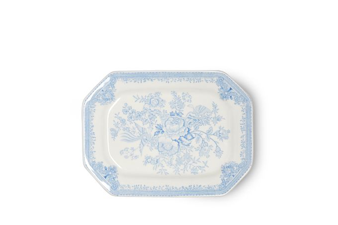 "Burleigh Blue Asiatic Pheasants Platter Rectangular 10"""
