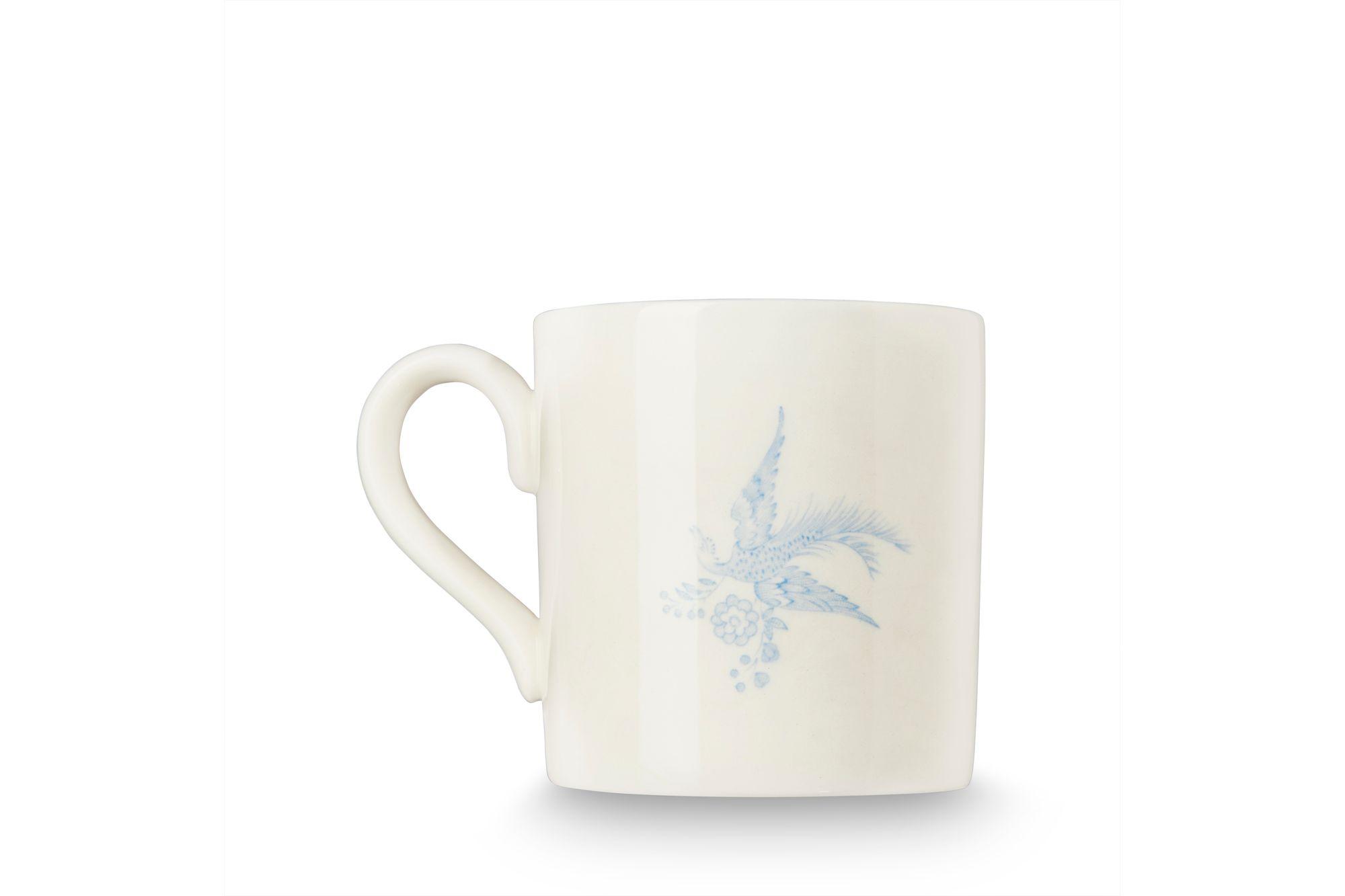 "Burleigh Blue Asiatic Pheasants Mug 3 1/2 x 3 1/2"" thumb 3"