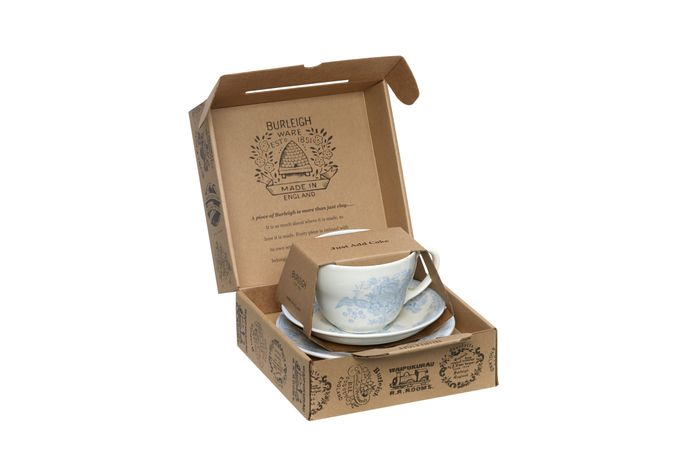 "Burleigh Blue Asiatic Pheasants Breakfast Cup Gift Set Includes Breakfast Cup, Breakfast Saucer and 7"" Plate"