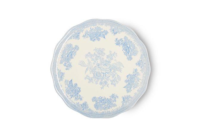 "Burleigh Blue Asiatic Pheasants Cake Plate 11"""