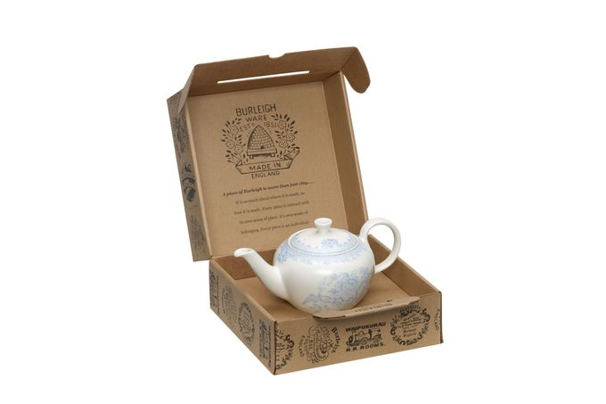 Burleigh Blue Asiatic Pheasants Teapot Small Teapot - Gift Boxed