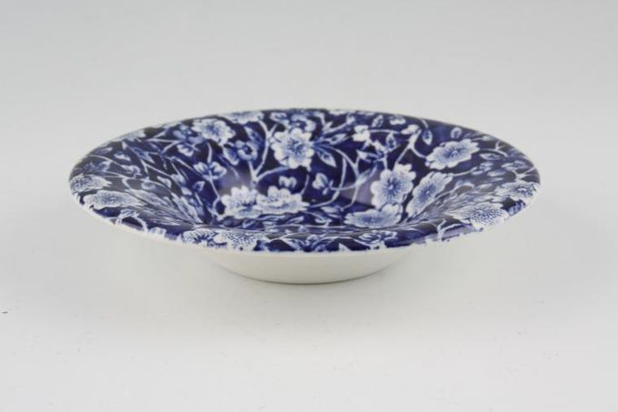 Burleigh Blue Calico Dish (Giftware) Backstamp just says 'Made in England' 4 1/2""