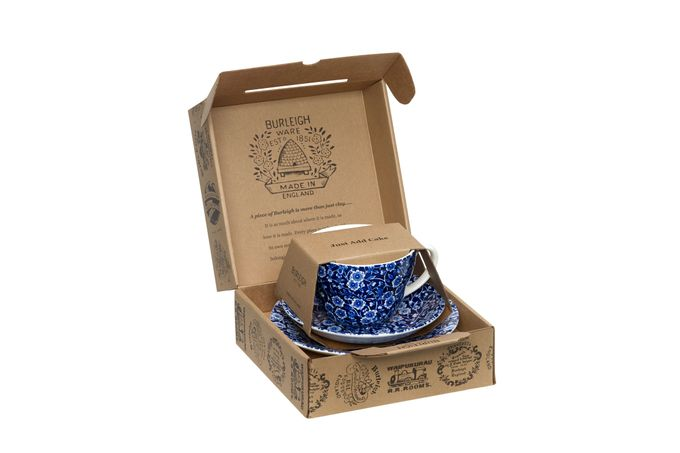 Burleigh Blue Calico Breakfast Cup Gift Set
