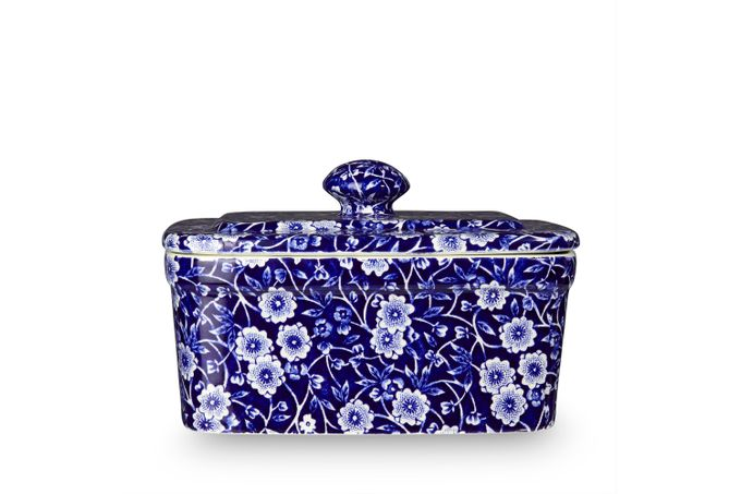 Burleigh Blue Calico Butter Dish + Lid