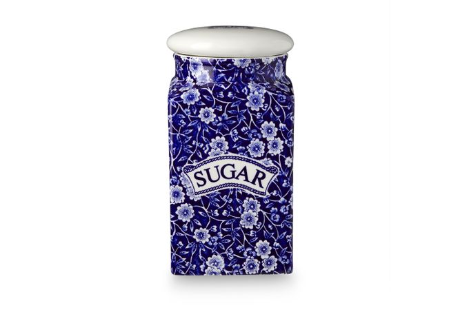 Burleigh Blue Calico Storage Jar + Lid