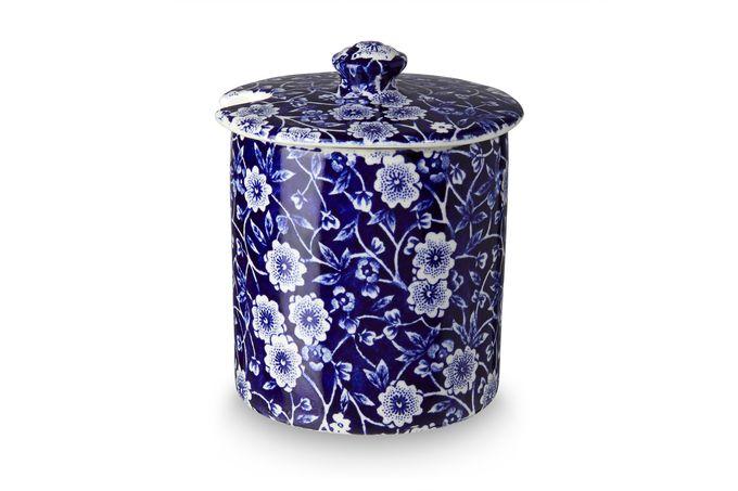 Burleigh Blue Calico Jam Pot + Lid
