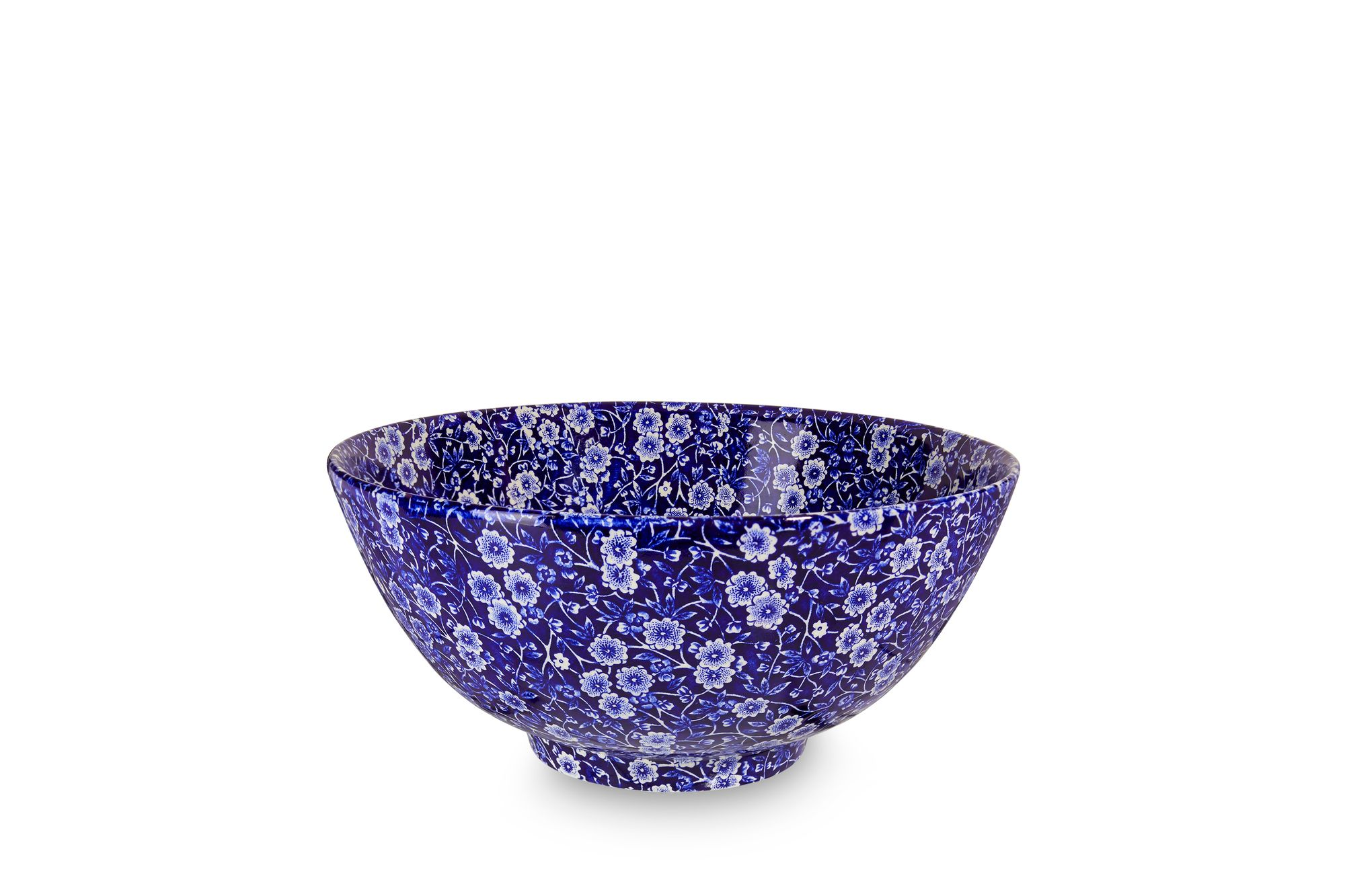Burleigh Blue Calico Large Footed Bowl thumb 1