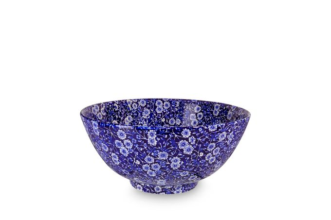 Burleigh Blue Calico Large Footed Bowl