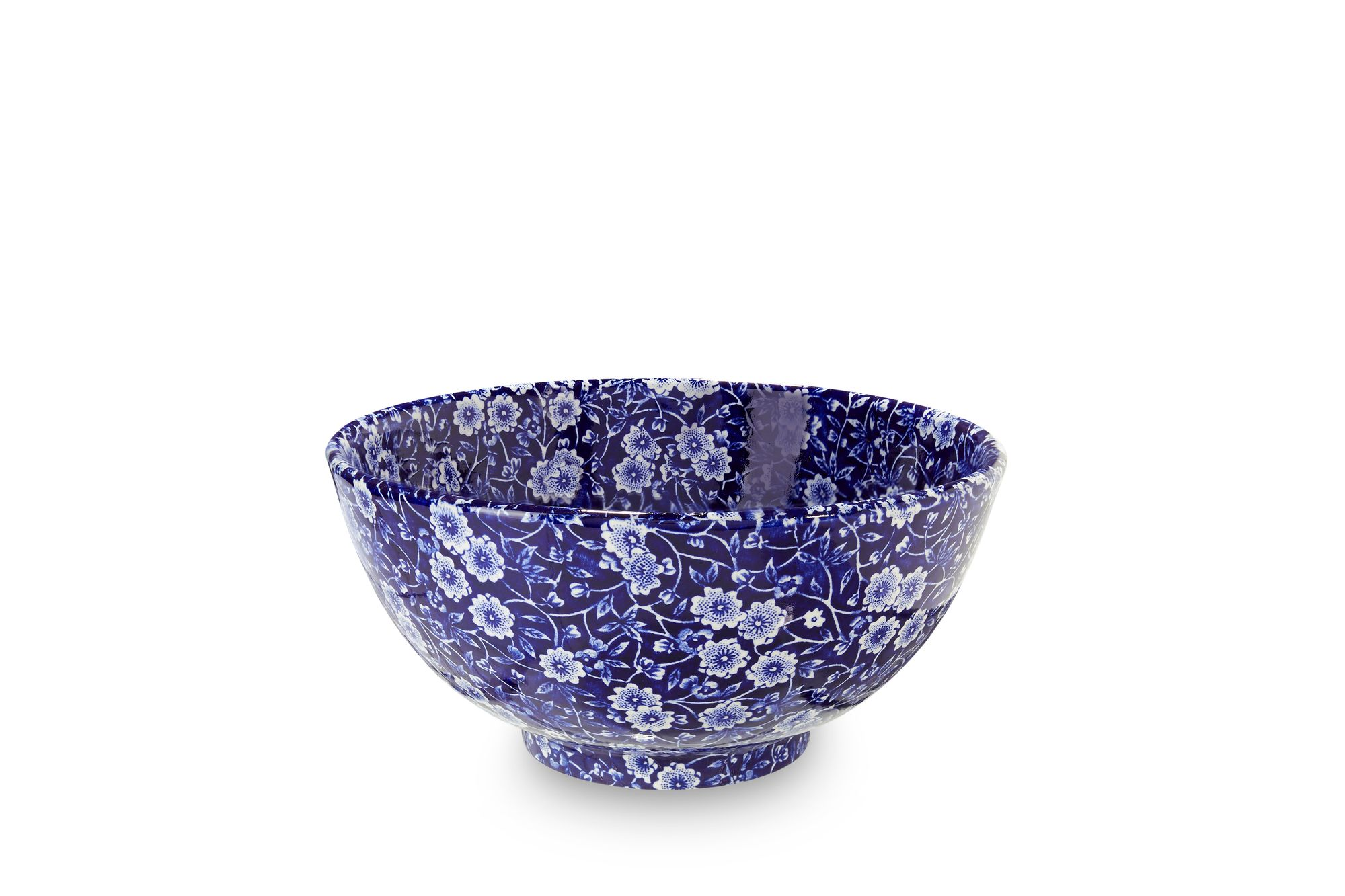 Burleigh Blue Calico Medium Footed Bowl thumb 1